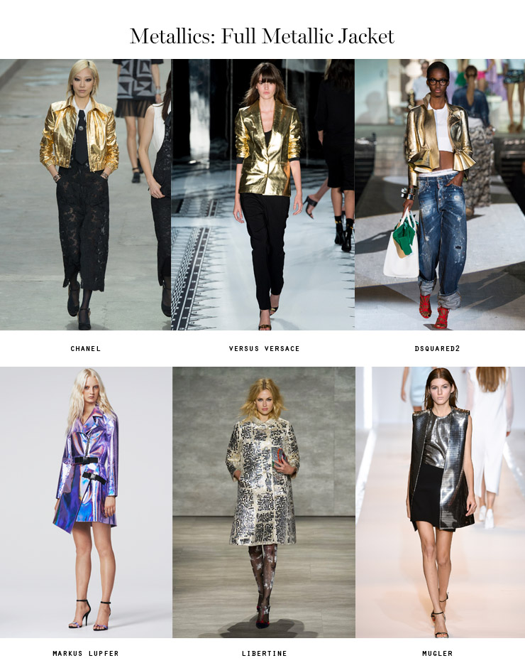 front row forecast Jolie Smith metallics SS15 full metallic jacket