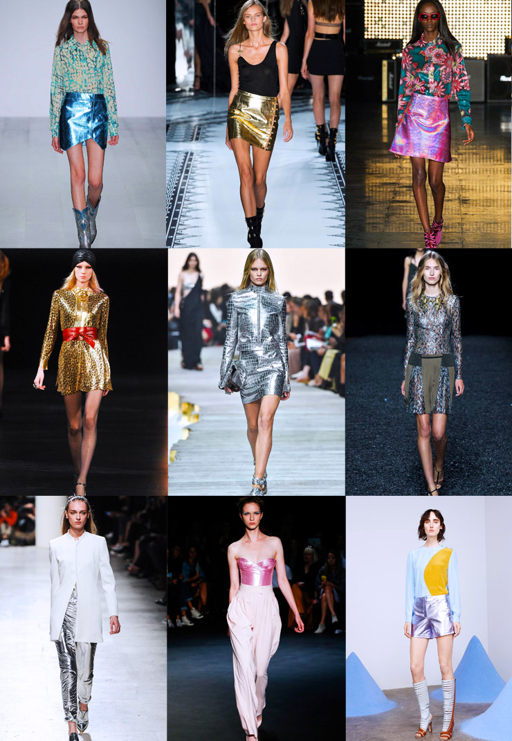 front row forecast Jolie Smith metallics SS15