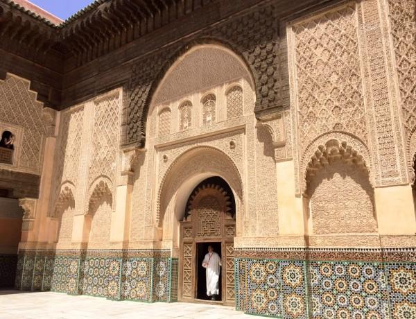 Morocco Marrakech madrasa ben youssef courtyard Erika Brechtel