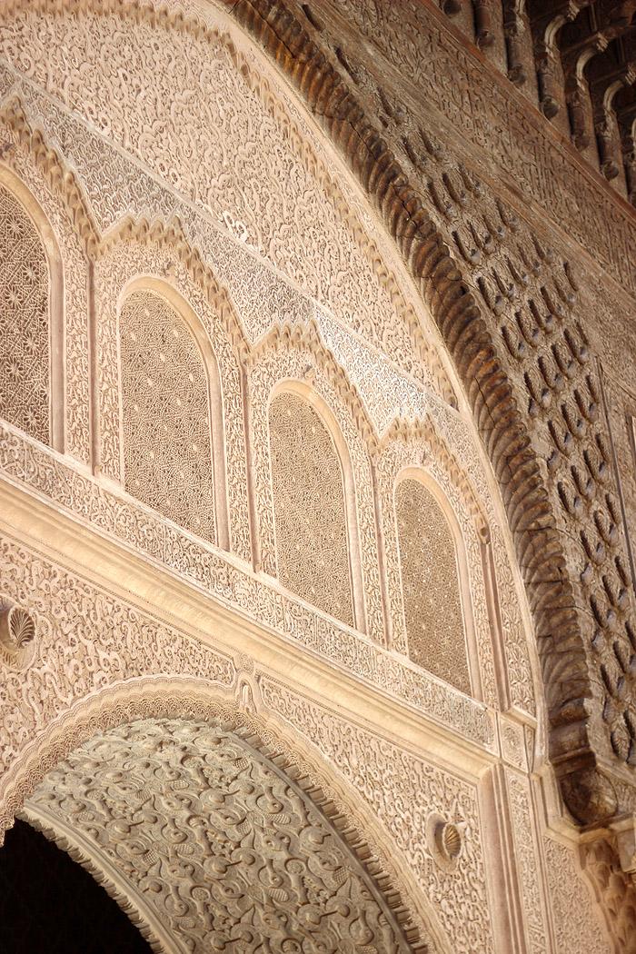 Morocco Marrakech madrasa ben youssef mosque archway Erika Brechtel