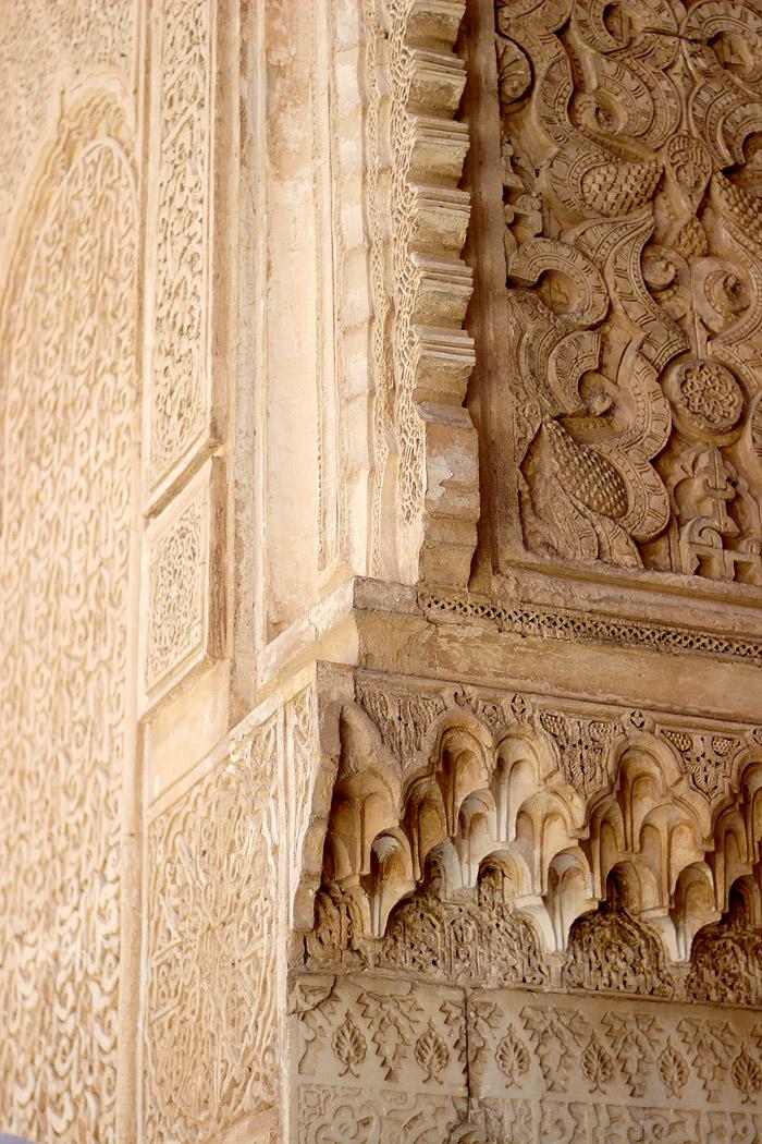 Morocco Marrakech madrasa ben youssef mosque detail Erika Brechtel