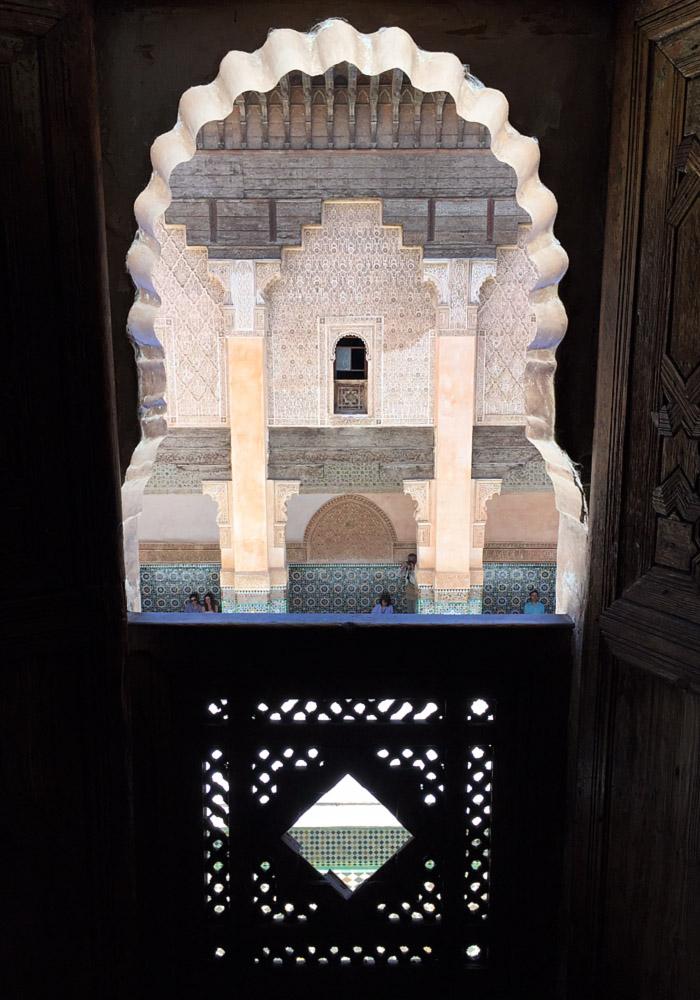 Morocco Marrakech madrasa ben youssef room Erika Brechtel