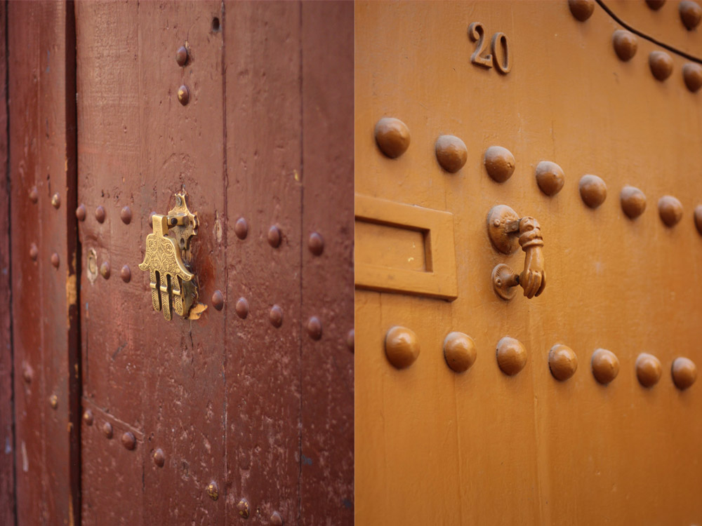 Morocco Marrakech medina Hand of Fatima door knockers Brechtel