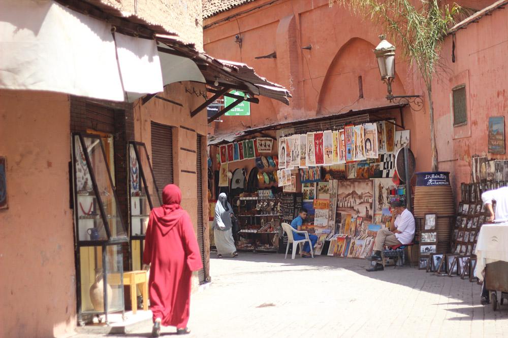 Morocco Marrakech medina passageway Erika Brechtel