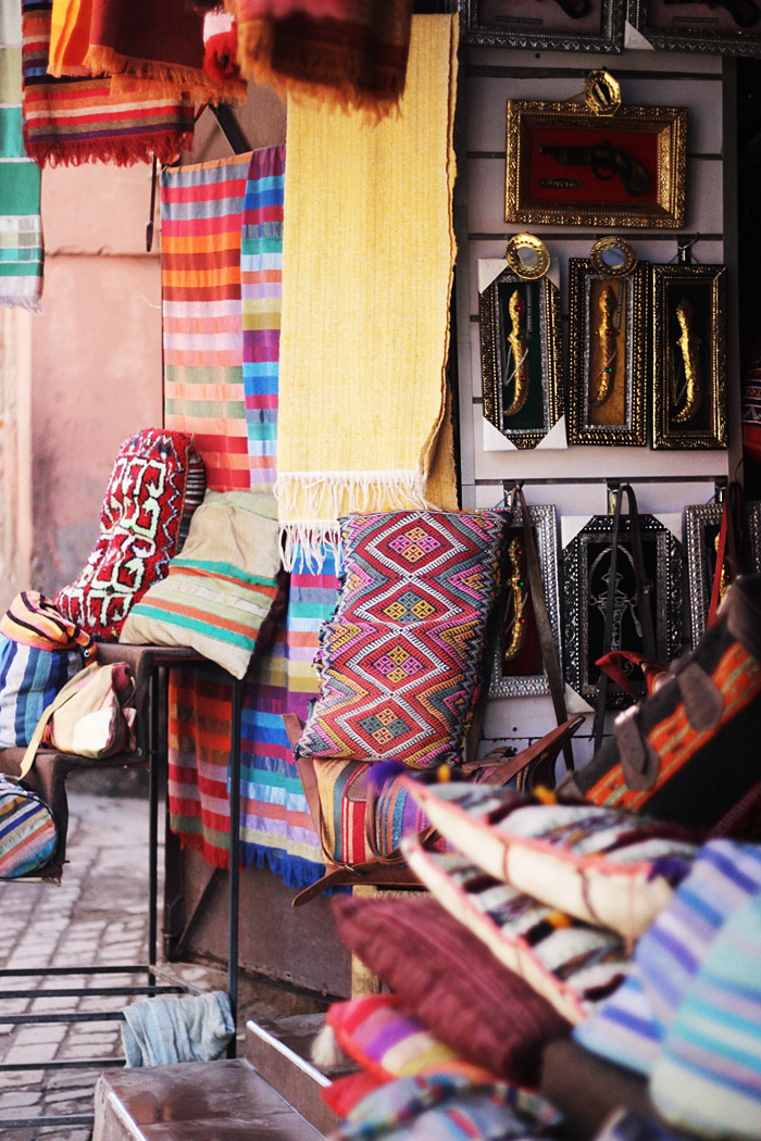 Morocco Marrakech medina textiles Erika Brechtel