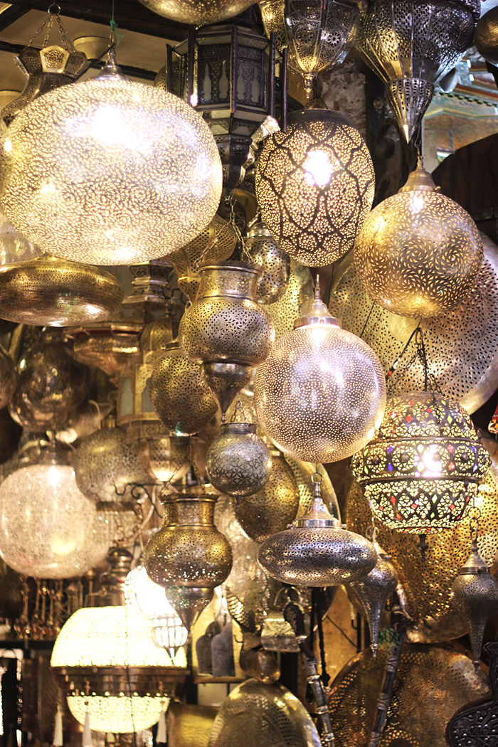 Morocco Marrakech souk Moroccan lanterns Erika Brechtel