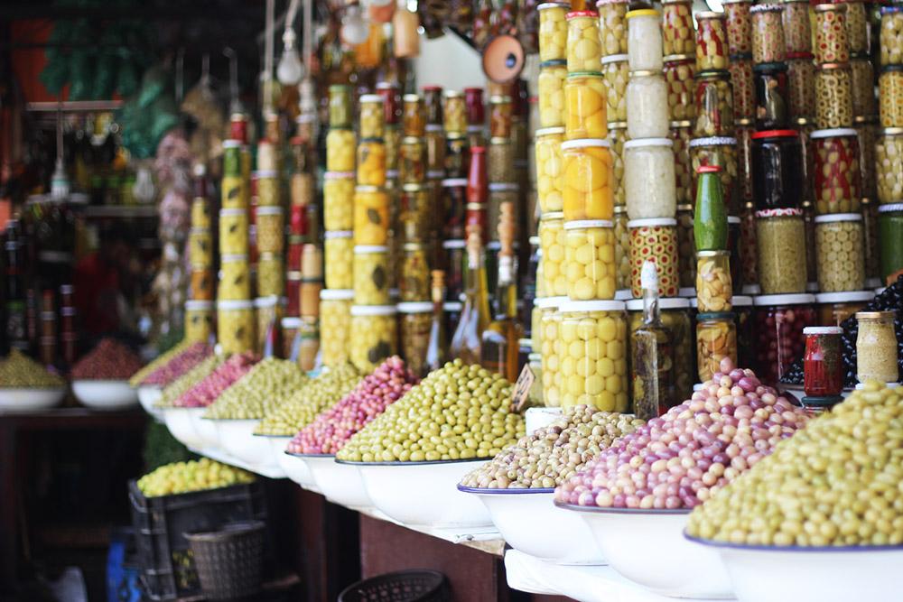 Morocco Marrakech souk olives Erika Brechtel