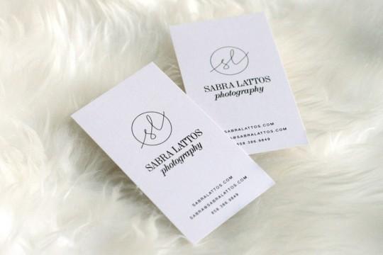 Sabra-Lattos-branding-logo-black-foil-biz-card-by-Erika-Brechtel