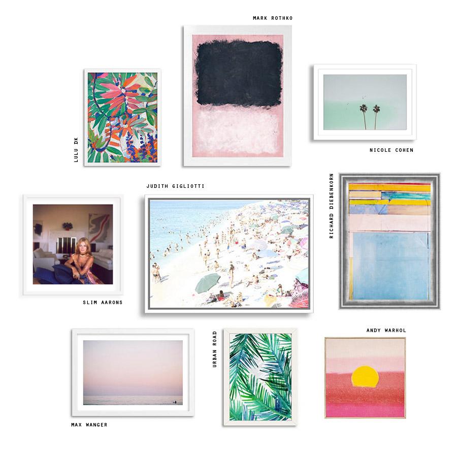 summer art gallery wall Erika Brechtel