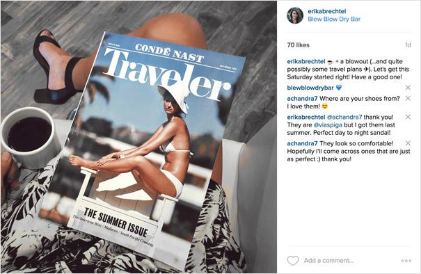Conde Nast Traveler Erika Brechtel instagram