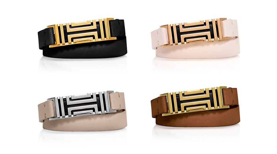 Tory Burch Fret Double-Wrap Bracelet Is A Fitbit Accessory