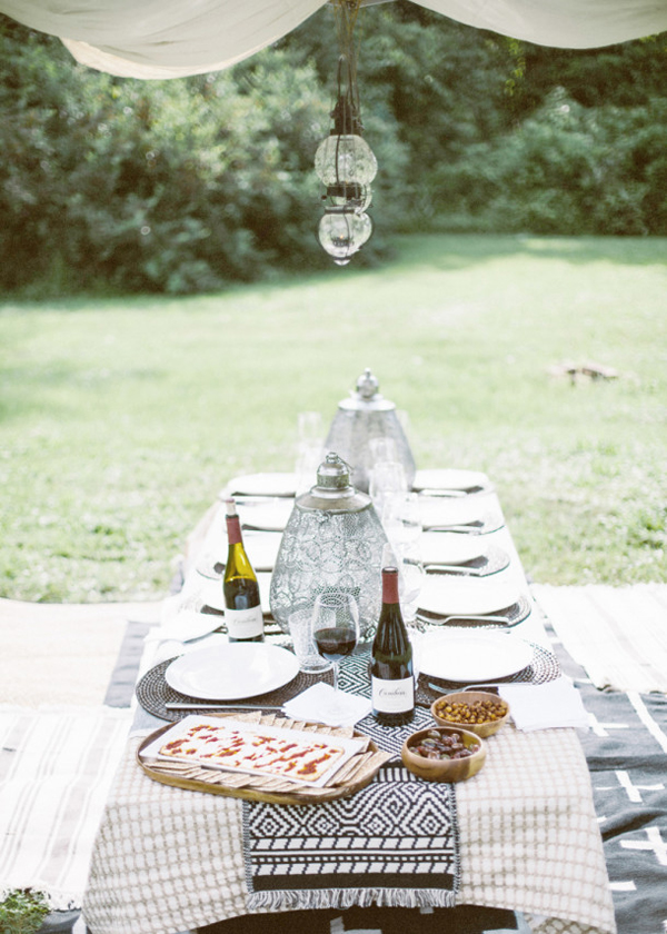 summer Moroccan dinner party inspo Earnest Home Cambria