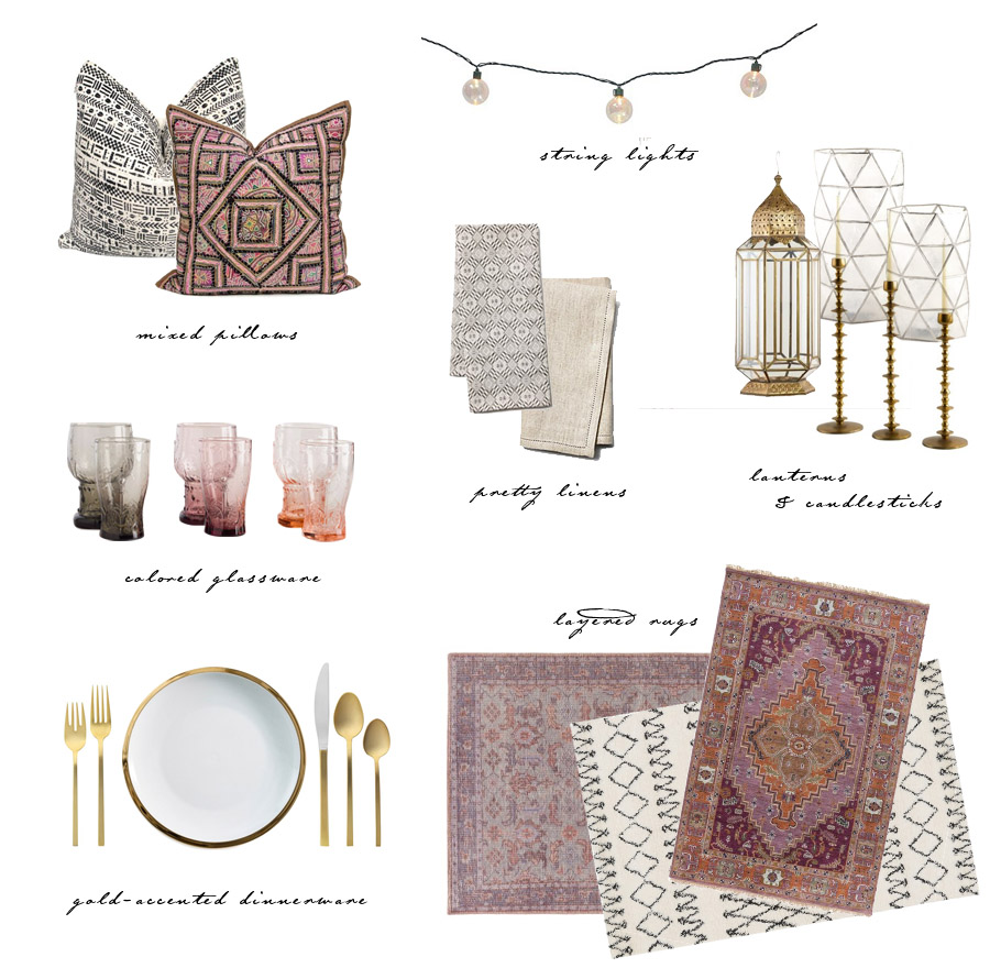 summer Moroccan dinner party inspo get the look by Erika Brechtel