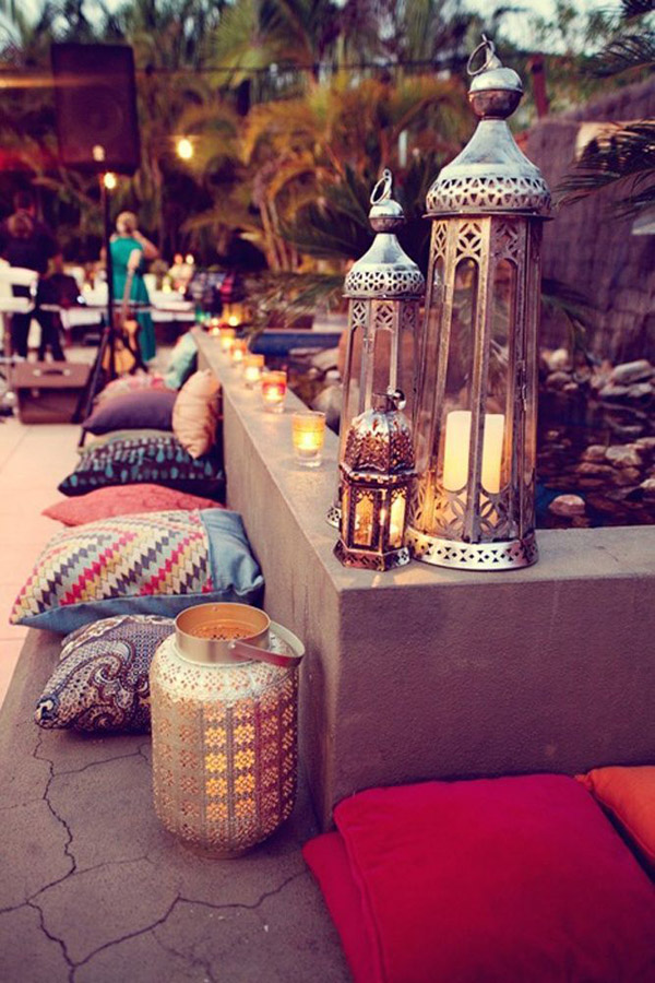 Moroccan Dinner Party Ideas Part - 25: Eye Swoon Summer Moroccan Dinner Party Inspo Pillows Lanterns Via Lucky