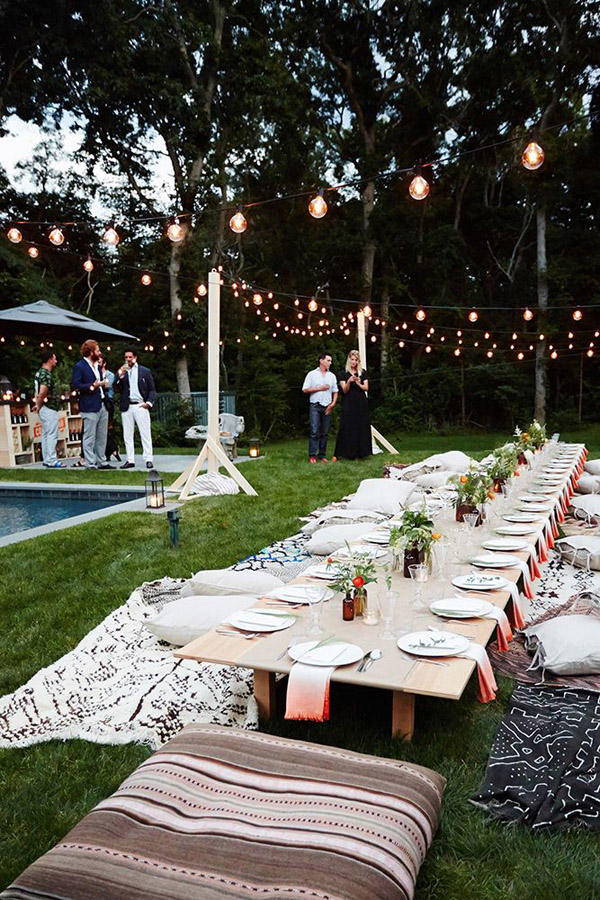 Summer soir e moroccan outdoor dinner party erika brechtel for Garden pool party