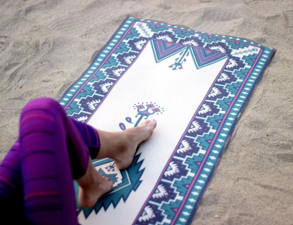 tribal trend printed yoga mats Erika Brechtel feat 2