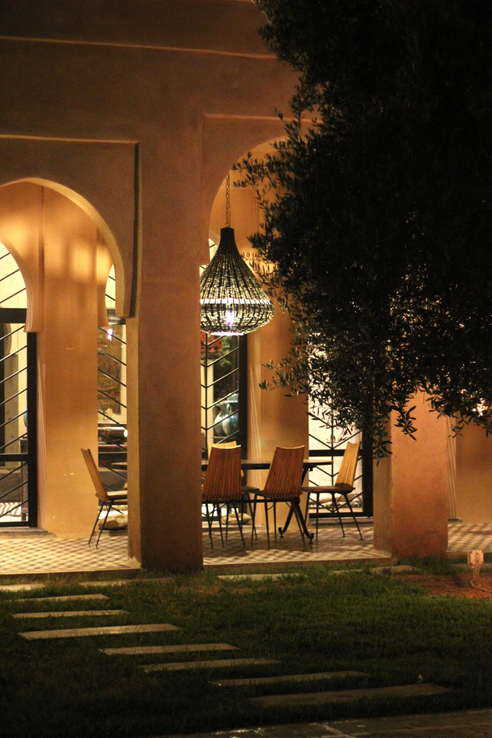 Morocco Marrakech Peacock Pavilions Maryam Montague outdoor night dining Erika Brechtel