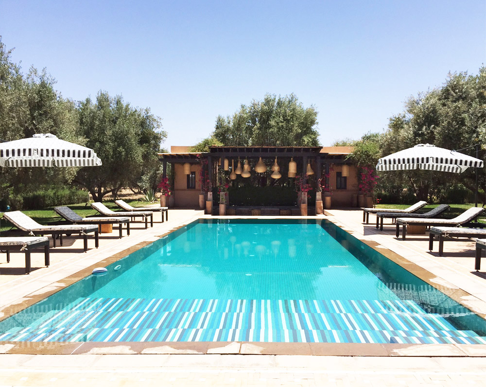 Morocco Marrakech Peacock Pavilions Maryam Montague pool Erika Brechtel