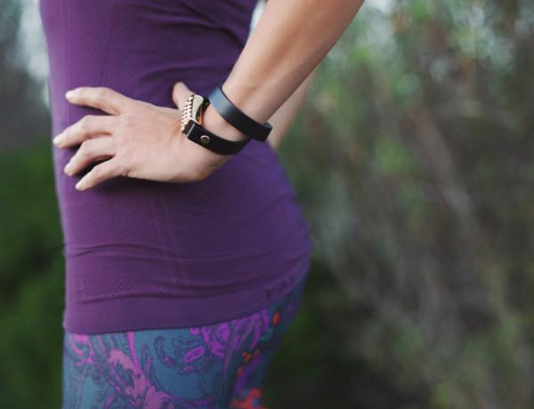 Erika Brechtel Bezels and Bytes fitbit wrap Fabletics Salar leggings Oula tank