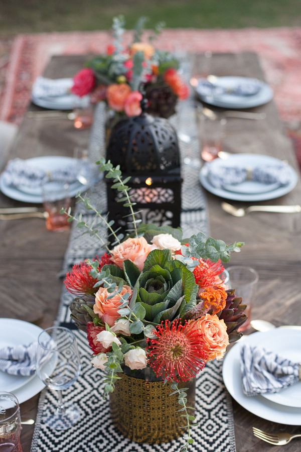 Erika Brechtel outdoor Moroccan party wine tasting photo by Jen Daigle 076 table decor