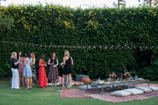 Erika Brechtel outdoor Moroccan party wine tasting photo by Jen Daigle 387 social hour girls