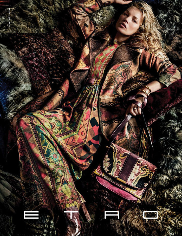 Fall 2015 ads 70s bohemian luxe Kate Moss Etro by Mario Testino 1