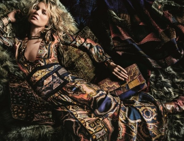 Fall 2015 ads 70s bohemian luxe Kate Moss Etro by Mario Testino 3
