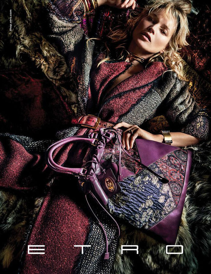 Fall 2015 ads 70s bohemian luxe Kate Moss for Etro by Mario Testino 5