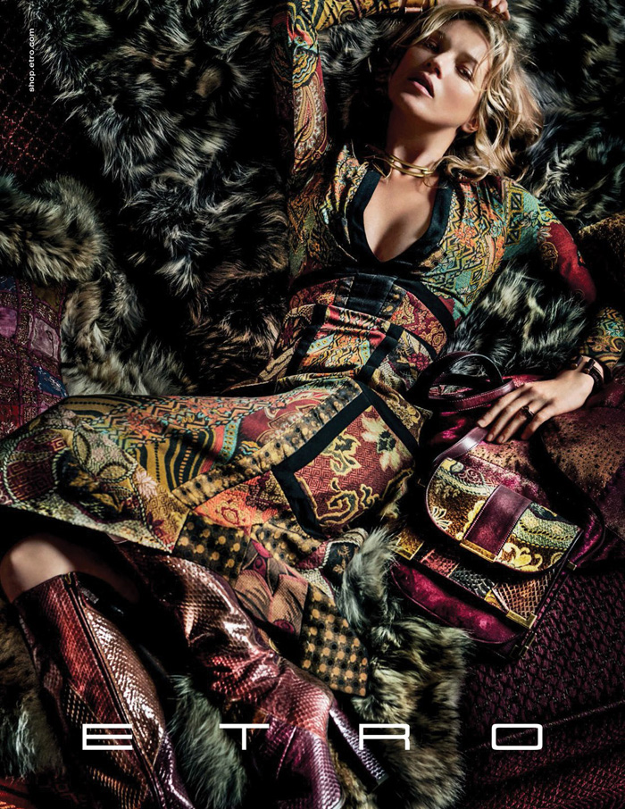 Fall 2015 ads 70s bohemian luxe Kate Moss for Etro by Mario Testino 6
