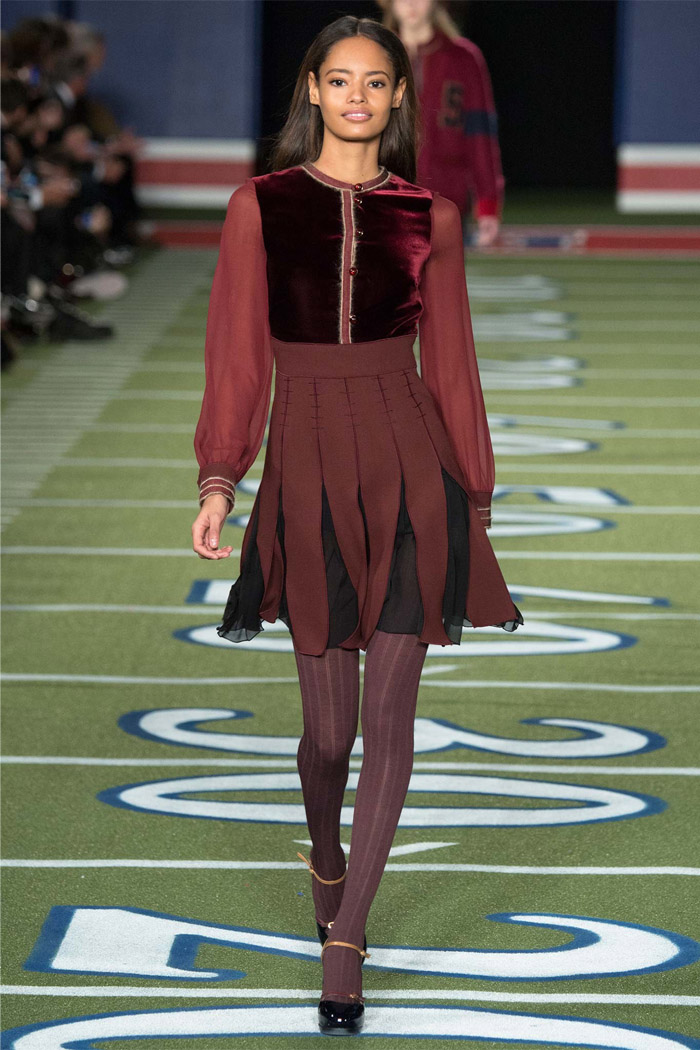Front Row Forecast Jolie Smith AW15 color trend Tommy Hilfiger marsala