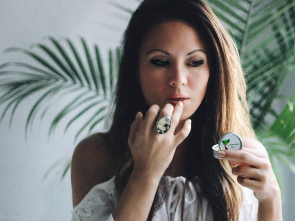 April Norris DIY beet lip balm Erika Brechtel.
