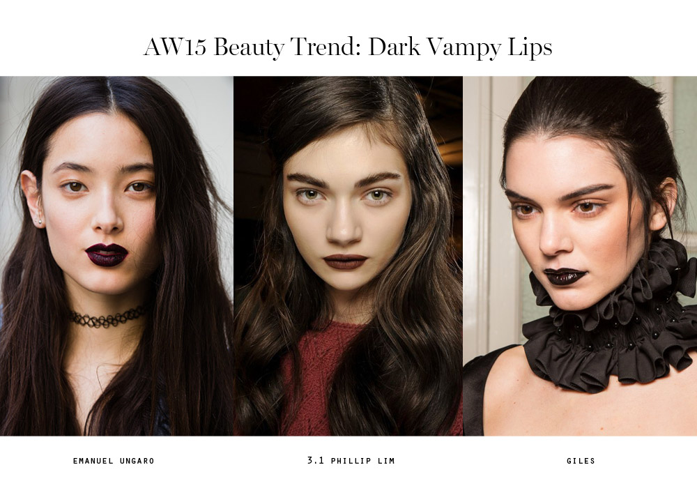 beauty trends aw15 dark vampy lips