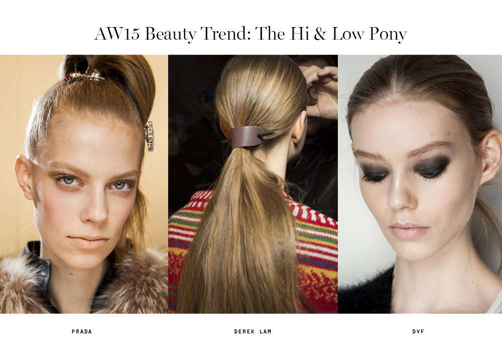 beauty trends aw15 hi and low pony