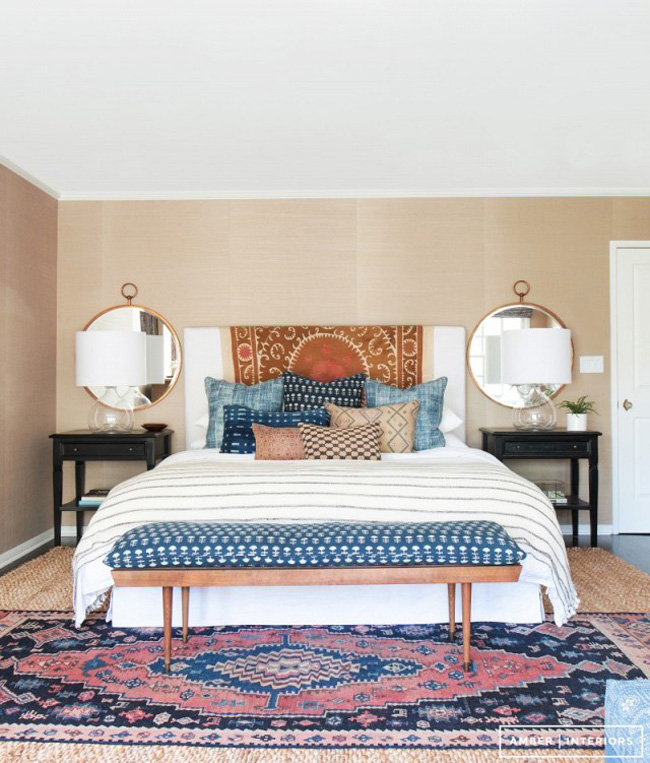 Layering Rugs Turkish Over Jute Bedroom By Amber Lewis Photo By Tessa  Neustadt