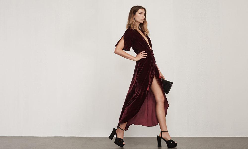 Bordeaux Dress in Carla