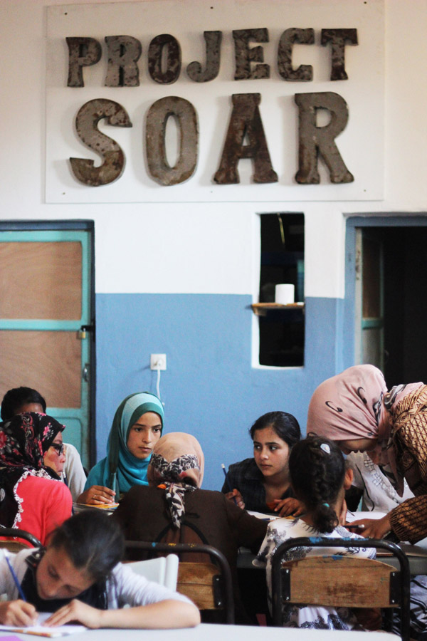 Morocco Marrakech Project Soar community center school English class students