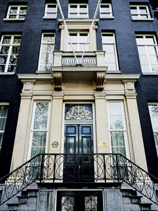 Viktor & Rolf Amsterdam HQ front exterior black brick door