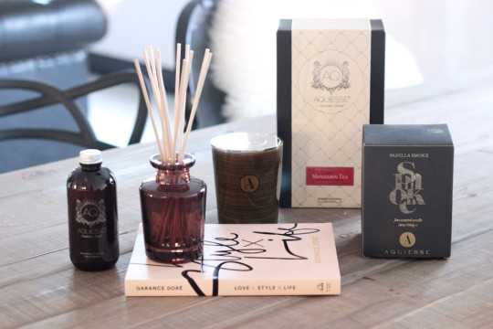 aquiesse giveaway Erika Brechtel mandarin tea diffuser vanilla smoke candle