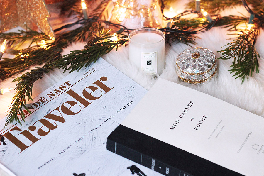 swag holiday gift guide Erika Brechtel travel Conde Nast Traveler subscription journal Jo Malone travel candle travel memento