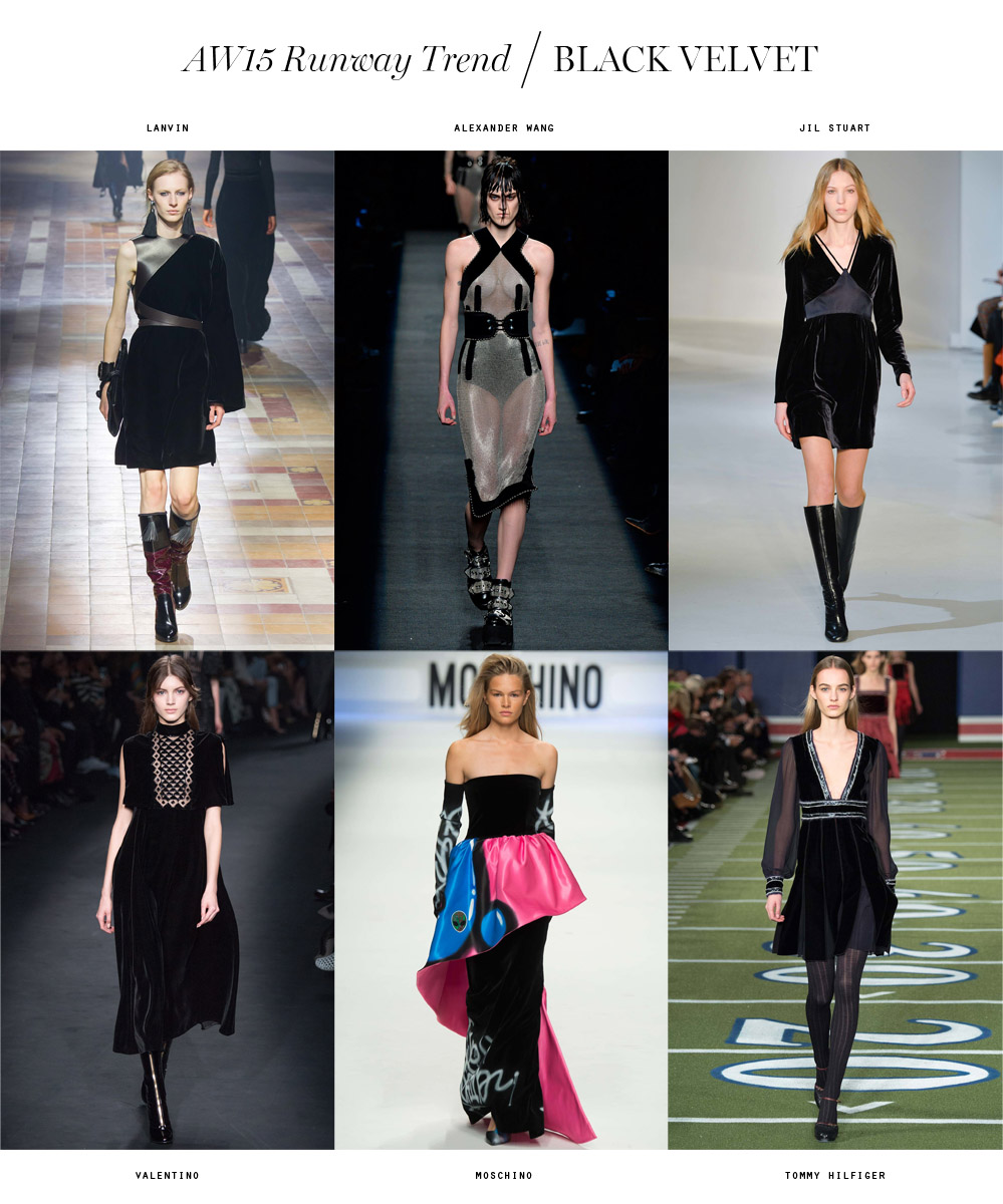 winter 2015 runway trend black velvet