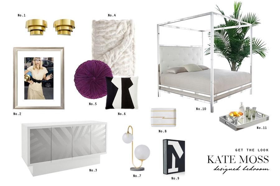 Kate Moss designed barnhouse bedroom get the look Hermes Kravitz Wearstler