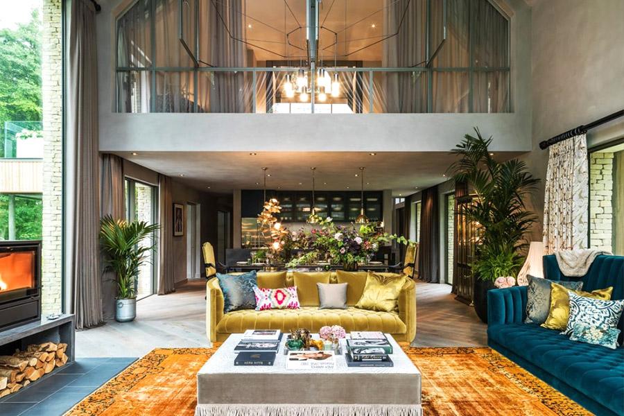Kate Moss designed barnhouse living room