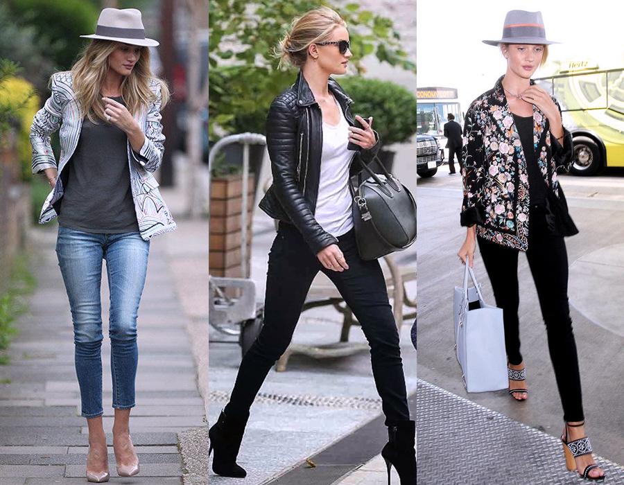 Rosie Huntington Whiteley Everyday Street Style Erika Brechtel