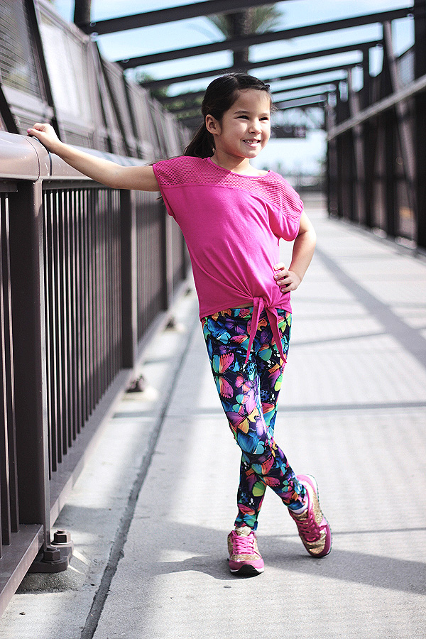 fabkids mini-me activewear Leighton Brechtel track star outfit bridge