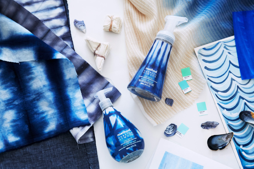 Erika Brechtel client Rebecca Atwood for Method Home sea spray indigo blue art design