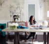 Rachel Roy home office OKL photo by Joe Schmelzer de Gournay wallpaper feat