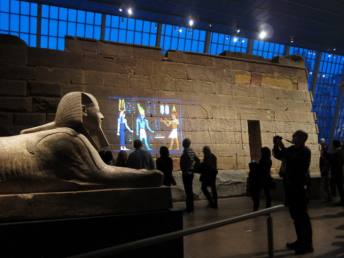 Temple of Dendur wall murals light color at The Met