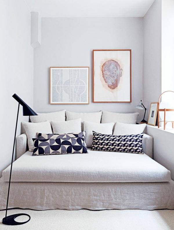 designer room tricks assymetrical art by Maison Hand photo by Felix via Vogue Living