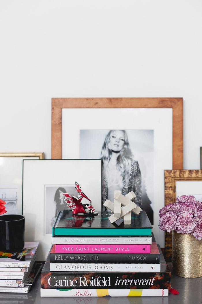 MavensTV shoot vignette styled by Erika Brechtel books frames