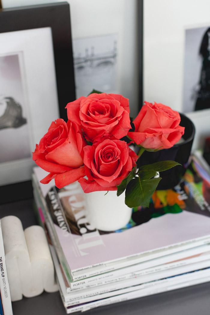 MavensTV shoot vignette styled by Erika Brechtel flowers magazines